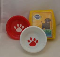 Food set for American Girl doll pets or similar size