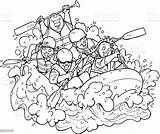 Rafting Whitewater Vector Illustration Clip Illustrations Nature Similar Istockphoto sketch template