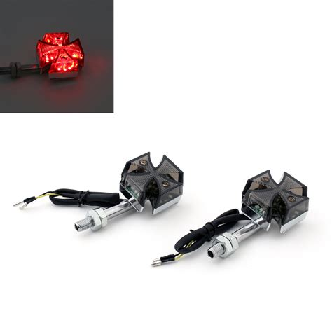 custom led turn signal lights for motorcycles 2x custom maltese cross led turn signal light for harley