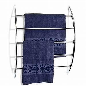 Handtuchhalter Für Flachheizkörper : bremermann handtuchhalter zur wandmontage mit 5 stangen aus metall verchromt ~ Markanthonyermac.com Haus und Dekorationen