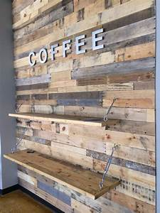 wood pallet accent wall pallet furniture diy With cheap wood accent wall
