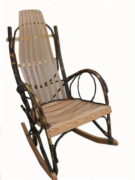 amish furniture adults hickory rocker with oak hardwood