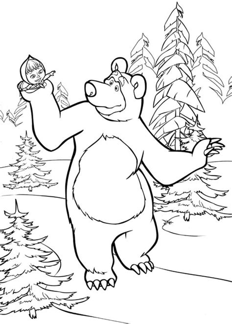 disegni  masha  orso da colorare pianetabambiniit
