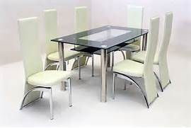 Dining Table With Six Chairs by Black Glass Dining Table 6 Chairs Gallery Dining