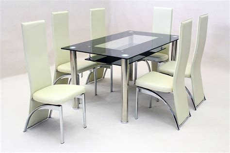 dining table and 6 chairs black glass dining table 6 chairs gallery dining
