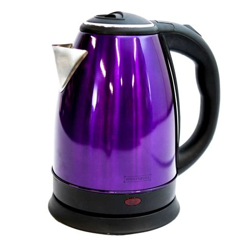 kettle purple electric steel cordless stainless light indicator 8l premium