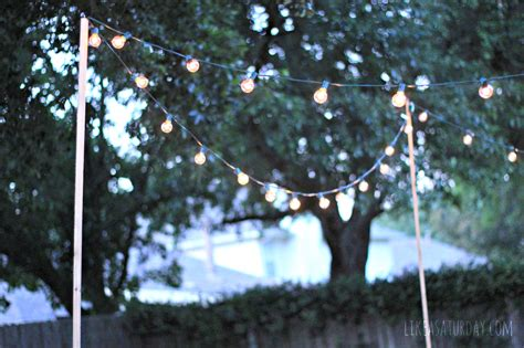 how to string outdoor lights without trees creativity