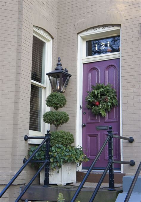 can never go wrong with a purple door the grey house