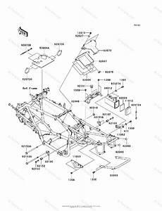 Kawasaki Atv 2007 Oem Parts Diagram For Frame  U0026 Fittings