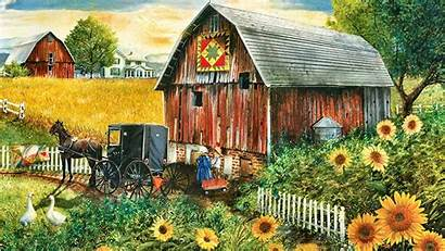 Country Amish Wallpapers Scenes Fall Scene Sunsout