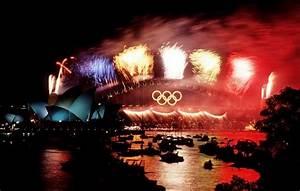 file fireworks sydney harbour bridge 2000 summer
