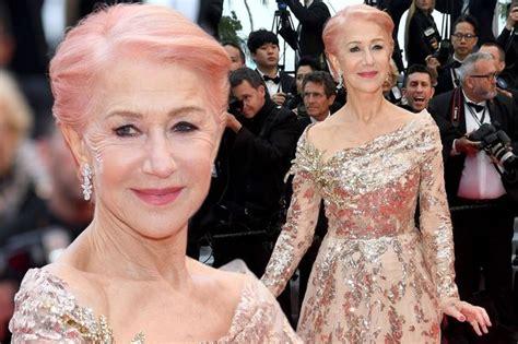 Dame Helen Mirren 73 Reveals New Pink Hair As She Dances