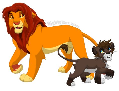Simba And Sora By Nightrizer On Deviantart