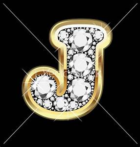 Gold and diamond letter j so me pinterest for Diamond letter j