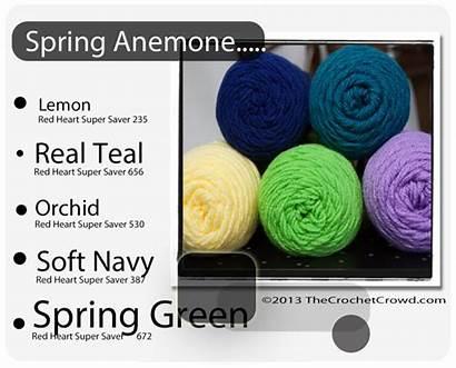 Yarn Heart Combinations Colors Crochet Schemes Chart