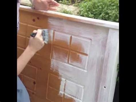 easy shabby chic painting how to create shabby chic furniture youtube