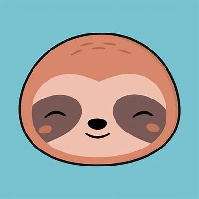 Sloth Kawaii Face Drawing Clipart Drawings Cartoon