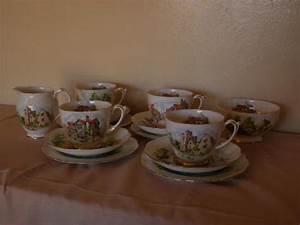 roslyn fine bone china beautiful britain 14 piece tea set