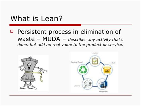 Lean Manufacturing Concepts Tools Quality Management