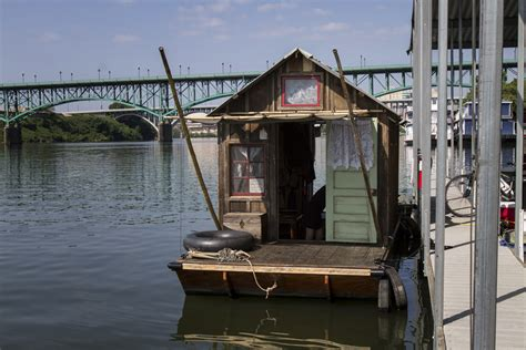 Shanty Boat aboard the shantyboat dotty the knoxville mercury