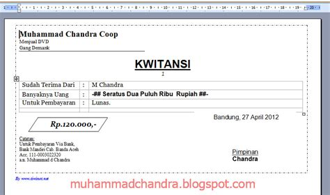 Contoh No Kwitansi template kwitansi excel calendar template excel