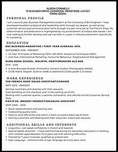 cv example studentjob studentjob With cv examples for students