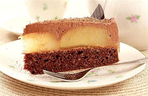 carb rezept torte mit schokolade und birnen