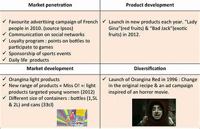 Ansoff Matrix Examples Growth Vector Market Orangina