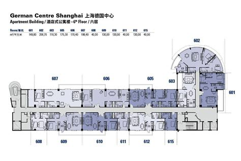 Floor Plans Of The German Centre Shanghai Apartment