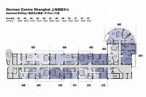 Floor plans of the German Centre Shanghai apartment ...
