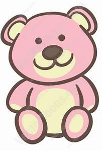 Pink Teddy Bear Cartoon Clipart - Vector Toons