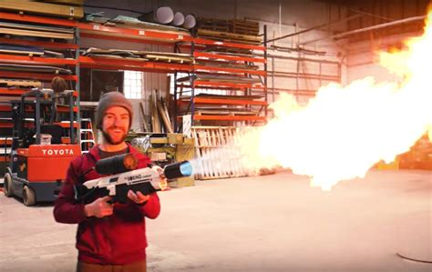 man builds   elon musk boring company flamethrower