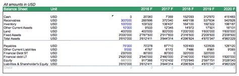 balance sheet rice farm efinancialmodels