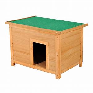 pawhut 33quot elevated dog kennel small animal wooden outdoor With outdoor dog kennel supplies
