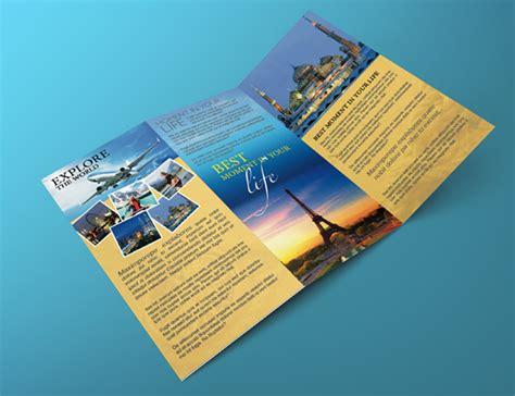 Travel Brochure Template 3 Fold by Tri Fold Travel Brochure Template Csoforum Info