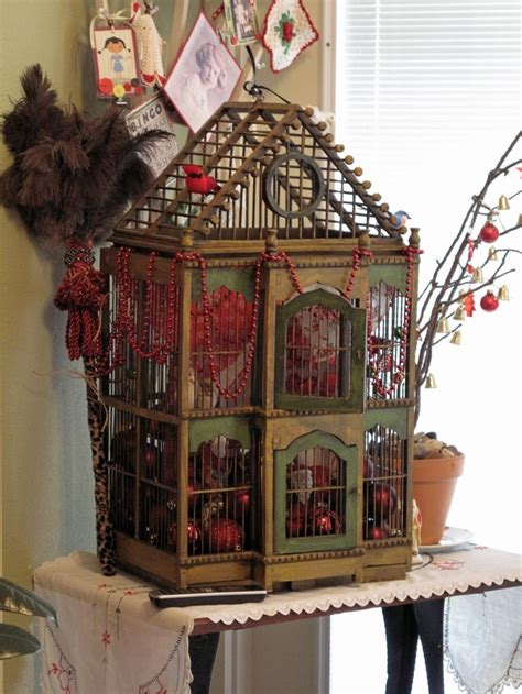 christmas bird cages give your home a chic decor by reusing your old bird cage in 25 ways
