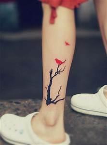 Tree, U0026, Bird, Tattoo
