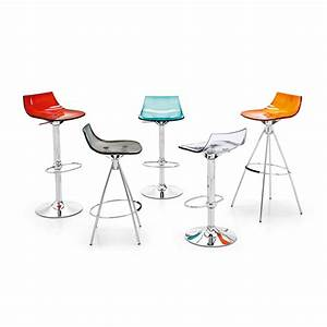 Tabouret De Bar 65 Cm : connubia tabouret de bar led orange assise 65 cm tabouret de bar connubia sur maginea ~ Teatrodelosmanantiales.com Idées de Décoration