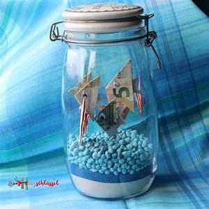 Kreative Geschenke Für Männer : herzschl ssel fische im glasfische im glas diy geldgeschenk www herzschl ~ Orissabook.com Haus und Dekorationen