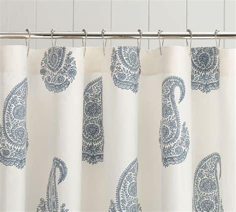 paisley shower curtain rayna paisley shower curtain pottery barn