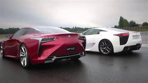 Lexus LFA & LF-LC: a supercar meeting an avant-garde ...
