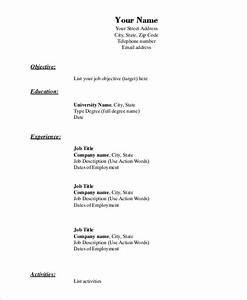 Resumes For Students With No Experience Simple Resume Example 9 Examples In Word Pdf