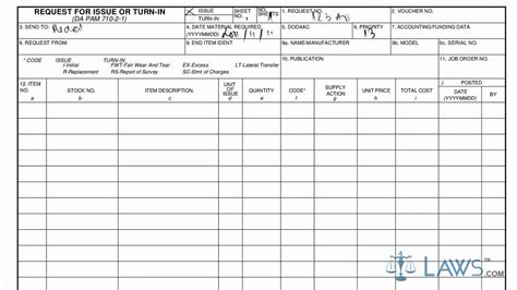 Learn How To Fill The Da Form 3161 Request For Issue Or