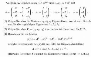 Matrix Eigenwerte Berechnen : mp forum berechnen einer matrix anhand des ~ Themetempest.com Abrechnung