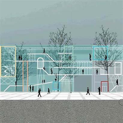 Project Architectural Behance Render Architecture Multifunctional Cente
