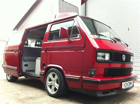 cherry red pop top vanagon hacks mods