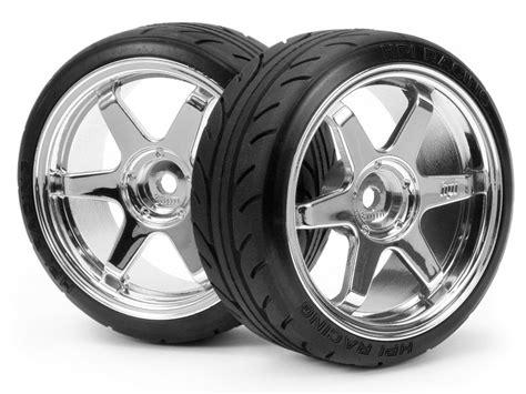 #4704 Mounted Super Drift Tire (a Type) On Te37 Wheel Chrome