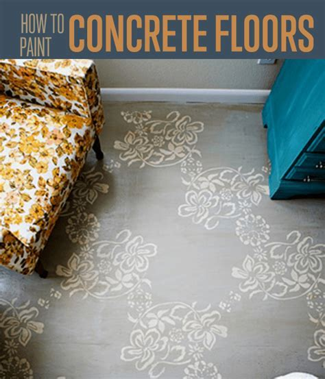 Tips on Painting a Concrete Floor DIY Projects Craft Ideas
