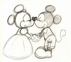 old fashioned mickey and minnie drawing - Google Search ...