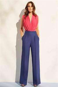 pantalon de fiesta azul palazzo